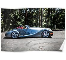 Morgan Aero 8 Sports Leaving the scene - Sealy Lookout, Coffs Harbour Poster
