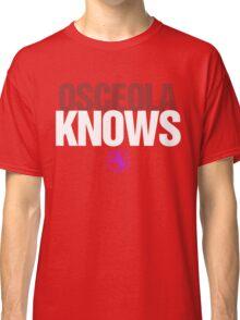 Discreetly Greek - Osceola Knows - Nike Parody Classic T-Shirt