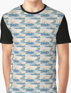 Fury Fishing Boat Fleet AK Chart Cathy Peek Art Graphic T-Shirt