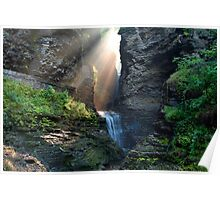 Hopeful Rays Spotlight Minnehaha Falls Poster