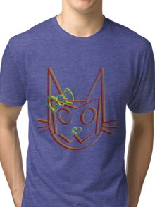 Mrs. Meow Trip Tri-blend T-Shirt