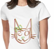Mrs. Meow Trip Womens Fitted T-Shirt