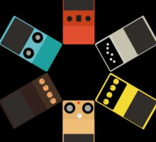pedals - guitar - black - yellow - red - grey - pink - blue - brown - multicolor Sticker