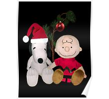 SNOOPY & CHARLIE BROWN FESTIVE CHRISTMAS-JOURNAL.. PICTURE AND OR CARD ECT Poster