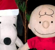SNOOPY & CHARLIE BROWN FESTIVE CHRISTMAS-JOURNAL.. PICTURE AND OR CARD ECT Sticker