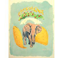 An Elephant Taco Photographic Print