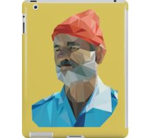 The Life Aquatic with Steve Zissou geometric low poly portrait - Bill Murray iPad Case/Skin