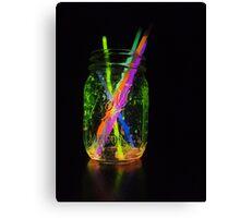 Rainbow Glow Jar Canvas Print