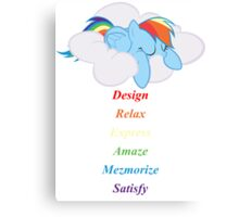 Rainbowdash Dream Canvas Print