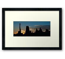 Sunrise at the Totem Pole Framed Print