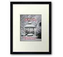 Christmas is caring.... Framed Print