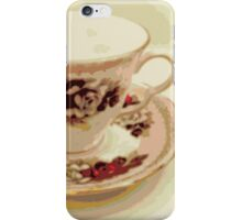Pink and Red Roses Teacup iPhone Case/Skin