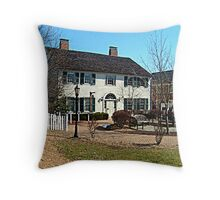 Indian Queen Tavern - East Jersey Olde Towne Village Throw Pillow