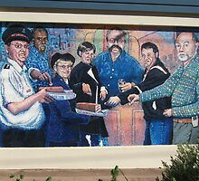 Broken Hill mural by Geoff De Main,b by Heather Dart