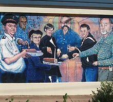 Broken Hill mural by Geoff De Main,b by Heather Dart