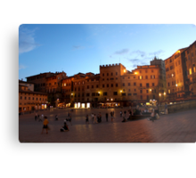 Piazza del Campo Metal Print
