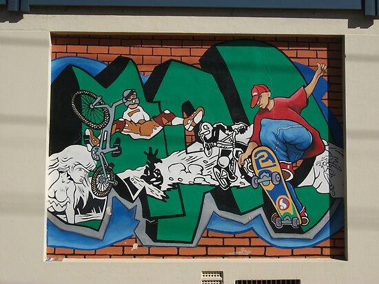 Broken Hill mural by Geoff De Main, i by Heather Dart