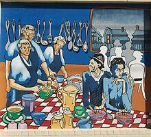Broken Hill mural by Geoff De Main, k by Heather Dart