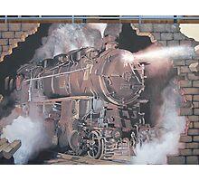 Broken Hill mural, train stn, Geoff De Main Photographic Print