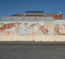 Broken Hill mural at Demo Club car park by Heather Dart
