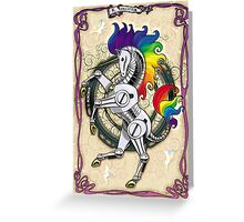 All Hail the Robot Unicorn Greeting Card