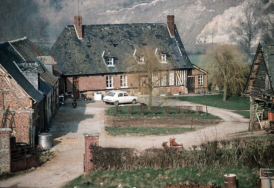 Farmhouse compound Les Hazons 19840215 0014 by Fred Mitchell