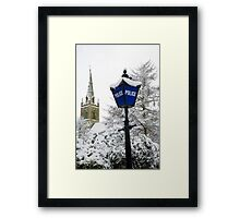 Traditional english police station blue lamp Framed Print