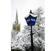 Traditional english police station blue lamp Photographic Print