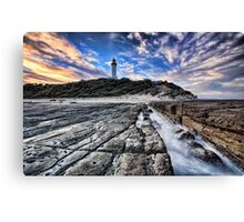 Norah Head Lighthouse at Sunset Canvas Print