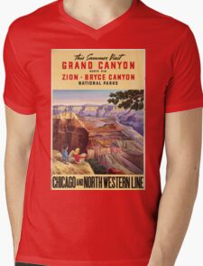Vintage poster - Grand Canyon Mens V-Neck T-Shirt