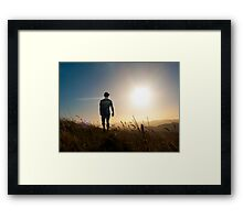 Man of Light Framed Print