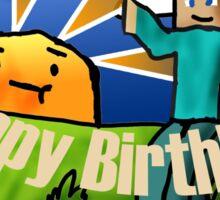 Minecraft Birthday Card Sticker