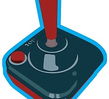 Classic Video Game Joystick by ink5000