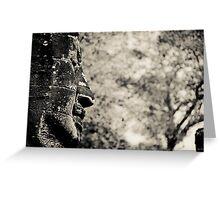 Buddha statue black and white Greeting Card