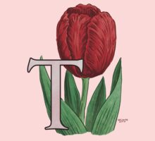 T is for Tulip - floating Kids Tee