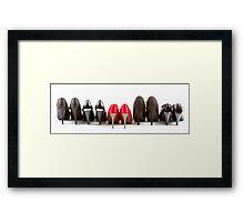 High heels red and black Framed Print