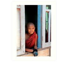 Young monk  Art Print
