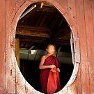 Young monk in Burma  by Peter Voerman