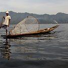 Fisherman on lake Inle #2 (Burma/ Myanmar)  by Peter Voerman