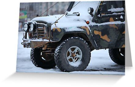 SUV in snow by mrivserg
