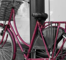Pink Bicycle Sticker