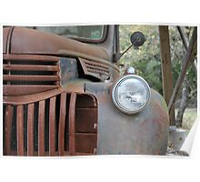 Rusted old Chevy Pick Up Truck Poster