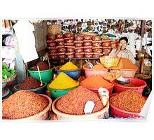 Market in Mandalay Burma/ Myanmar  Poster