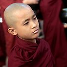 Young Buddhist monk in Burma/ Myanmar by Peter Voerman