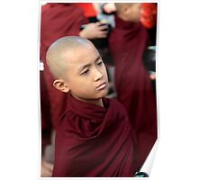 Young Buddhist monk in Burma/ Myanmar Poster
