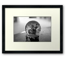 A Snow Globe Framed Print