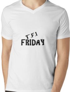 T.F.I Friday Mens V-Neck T-Shirt