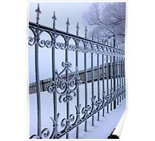 Fenced in Frost Poster