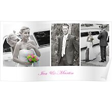 Groom meeting bride Poster