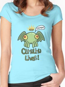 Cthulhu Lives! Women's Fitted Scoop T-Shirt